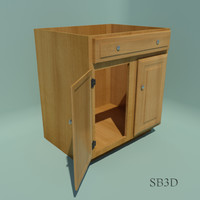 Cabinet Sink Base 30 inch with functional doors