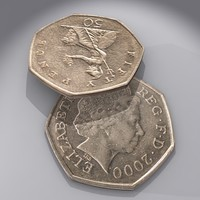 3d model british pence