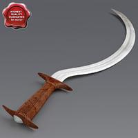 3d african sword v3