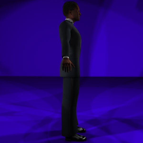fbx black male 1 body character - Black Male #1 Rigged Character Package... by MasonMotion