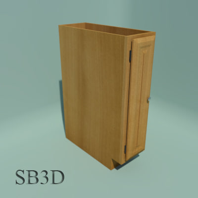 3d model 9 base cabinet functional for 10 inch kitchen cabinet