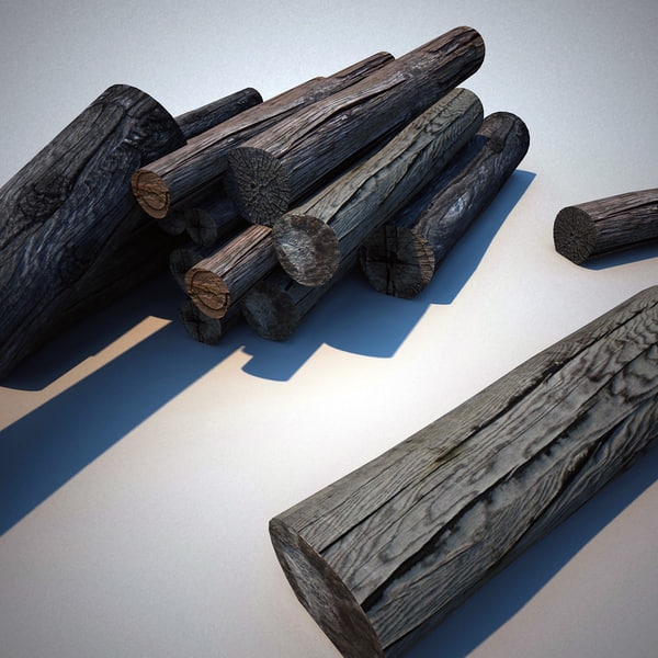 chopped firewood 3d model - Chopped Firewood... by 3d_molier