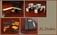 3ds office furniture desk