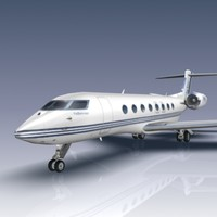 3ds max g650 aircraft business jet