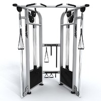 3d gym adjustable pulley dual