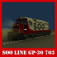3d emd locomotive