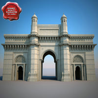 mumbai gateway india 3d model