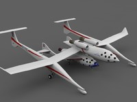 3ds max n328kf spaceshipone
