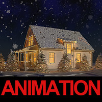 3ds max usa christmas animation snow