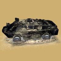 3d burned brdm3 model
