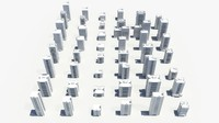 buildings city 3d obj