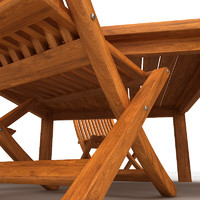 3d model of cedar outdoor furniture set