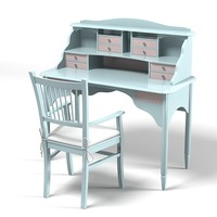 3d model childern desk table