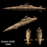 Submarine Gustav Zede  (1898)