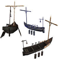 viking lander boat 3d max