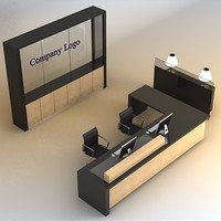 3D Reception Desk 02