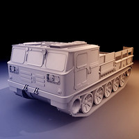ats-59g medium tracked artillery 3d model