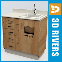 Dental cabinet with sink by 3DRivers