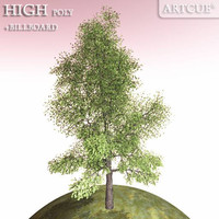 maya tree high-poly billboard
