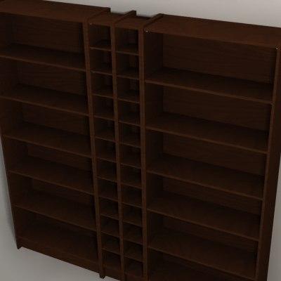 ikea billy 3d model. Black Bedroom Furniture Sets. Home Design Ideas