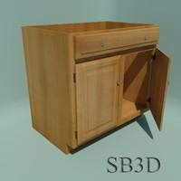 3d 36 inch sink base