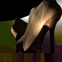 3d model of heels shoes
