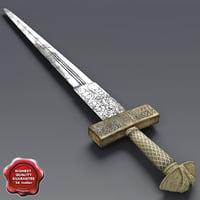 3d african sword v2