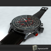 chrono watch 3d c4d