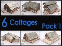 Cottage Collection, Interiors, Low Poly