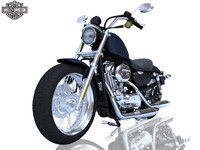 harley davidson xl 883l 3d model