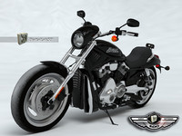 3d harley black knight motorcycle