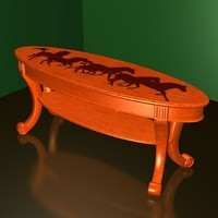 coffee table horse fr 3d model