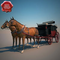 3ds max horse carriage