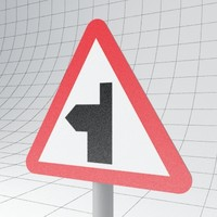 3ds max traffic road ahead left
