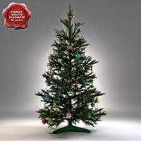 3d new year tree v5 model