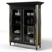 Noble Estate Ebonized Bookcase cupboard armoire sideboard storage showcase