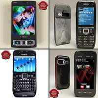 nokia phones v2 3d model