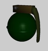 free nice grenade 3d model
