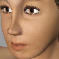 maya realistic human girl