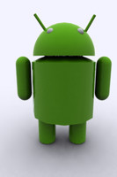 3d model green robot android google