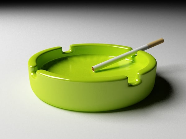 3d model glass ashtray - Ashtray green... by mish vexus