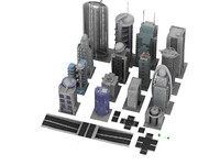 office buildings business 3d obj