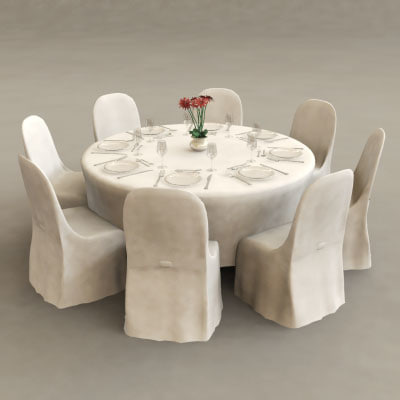Banquet table 3d max for Table design 3d