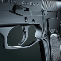 3d model browning revolver