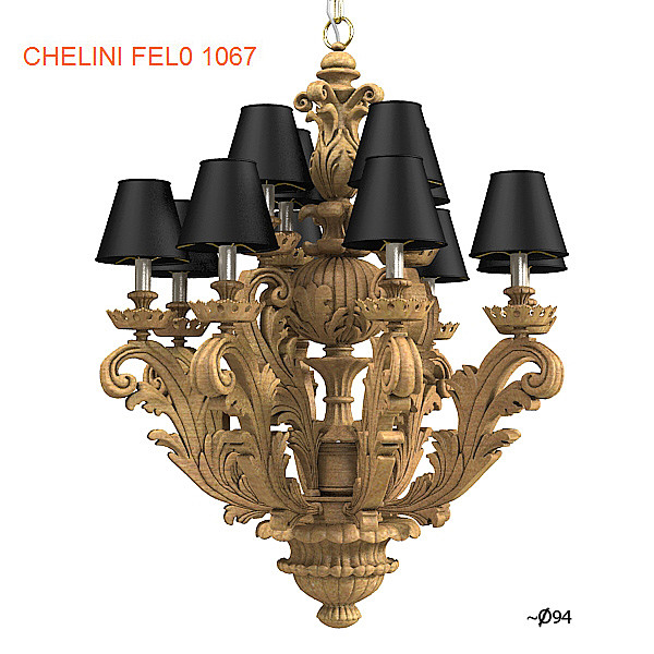 chelini fel0 1067 classic chandelier baroque carved antique wooded