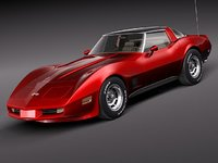 3ds max chevrolet corvette c3 1980
