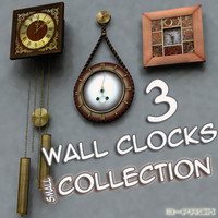 wall clocks - obj