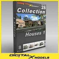 subdivision house - 1 3d model