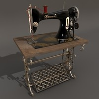 3d model sewing machine