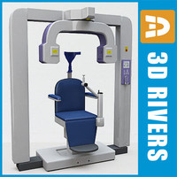 3d panoramic dental x-ray chair model